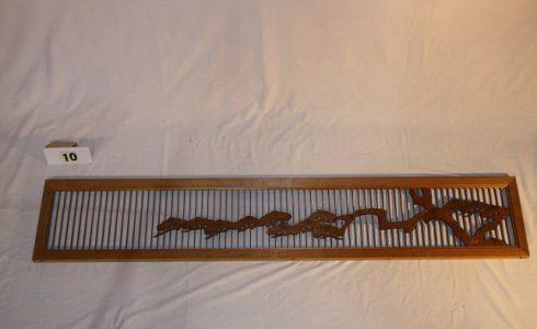 木製彫刻欄間(ランマ)格子 松【木材・古材販売】
