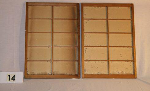 古民具・障子戸 建具 2枚セット(引き戸)画像