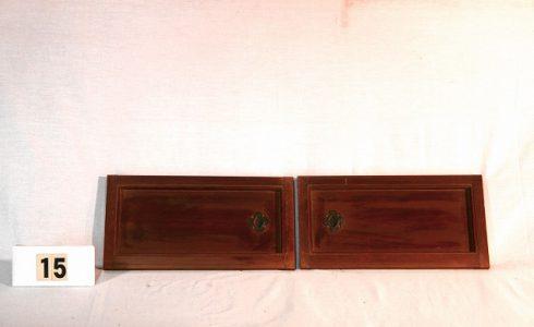 古民具・箪笥(タンス)戸 建具2枚セット(引き戸)写真