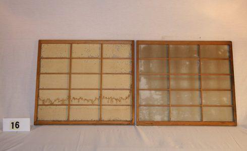 古民具・障子戸 建具2枚セット(引き戸)写真