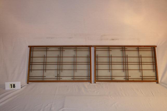 古民具・ガラス戸 建具2枚セット(はめ込み戸)