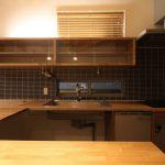 製作キッチン・コの字キッチンカウンター・製作食器棚