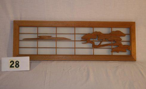 木製彫刻欄間(ランマ)格子(松)【木材・古材販売商品のご案内】
