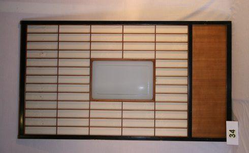 古民具・障子・ガラス戸 建具2枚セット写真