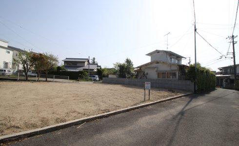 愛媛県松山市東野2丁目注文住宅建築用地写真