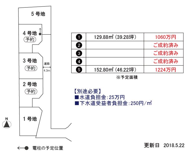 松山市久保田町・分譲地・区画図