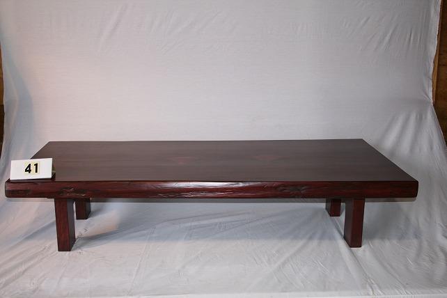 一枚板 無垢材の座卓 写真