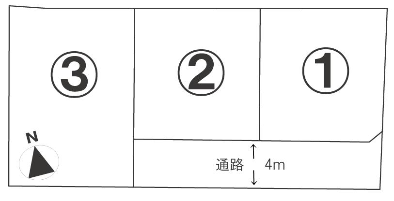 山西町・区画図